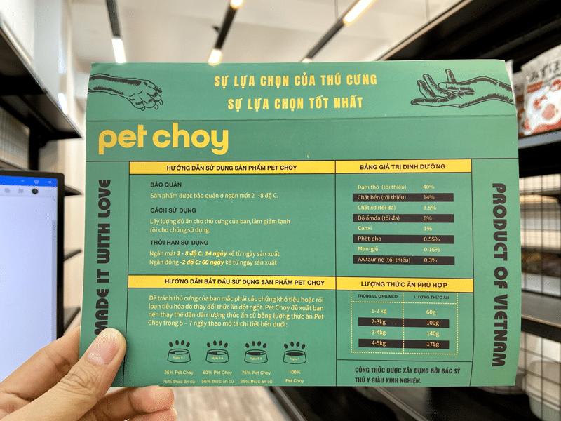 huong dan su dung san pham pet choy pate